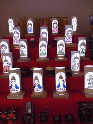 お雛様の竹灯籠.jpg