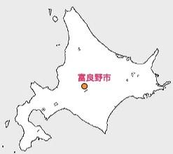 北の国から北海道富良野市の位置の地図