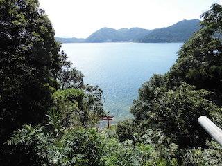 厳島神社(弁財天)から見た琵琶湖の風景.JPG