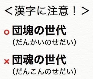 団塊の世代の読みと漢字
