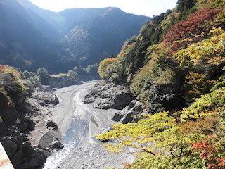 奥永源寺の川の景色