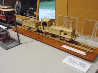 日本最古の150型蒸気機関車の鉄道模型.jpg