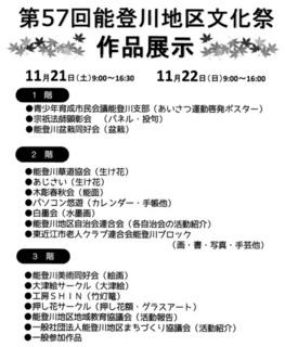 第57回の能登川地区文化祭の展示作品