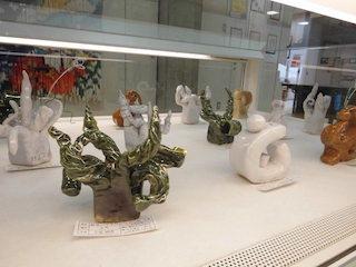 能登川中学生の立体造形作品
