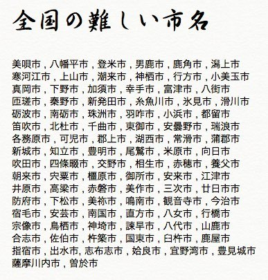 難読地名(中学校の社会科地理の雑学クイズ).jpg